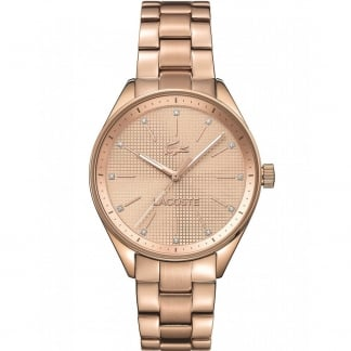 Ladies Rose Gold Philadelphia Watch with Stone Set Markers 2000899