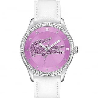 Ladies Victoria Watch with White Strap and Pink Dial 2000870