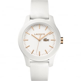 Ladies White 12.12 Silicone Strap Watch
