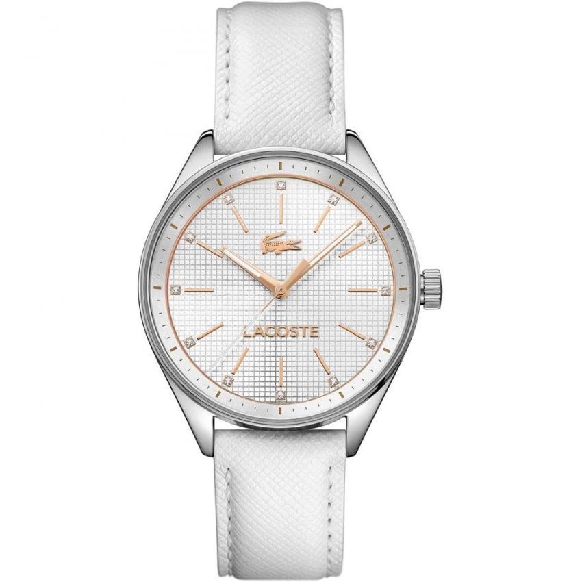 Lacoste Ladies White Leather Strap Philadelphia Watch 2000900