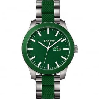 Men's 12.12 Steel & Green Rubber Bracelet Watch 2010892