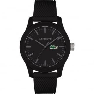 Men's Black 12.12 Silicone Strap Watch 2010766