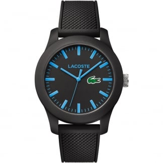 Men's Black 12.12 Strap Watch With Blue Markers 2010791
