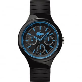 Men's Black Borneo Watch With Blue Detailing