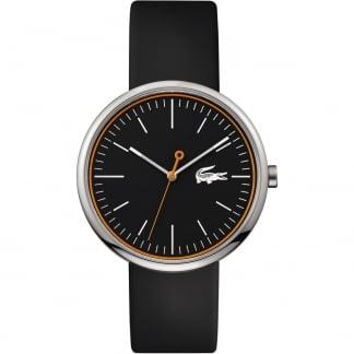 Men's Black Orbital Rubber Strap Watch 2010865
