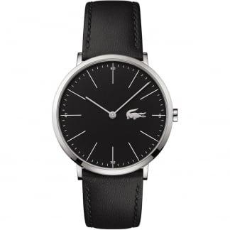 Men's Black Ultra Slim Leather Moon Watch 2010873