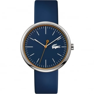 Men's Blue Orbital Rubber Strap Watch