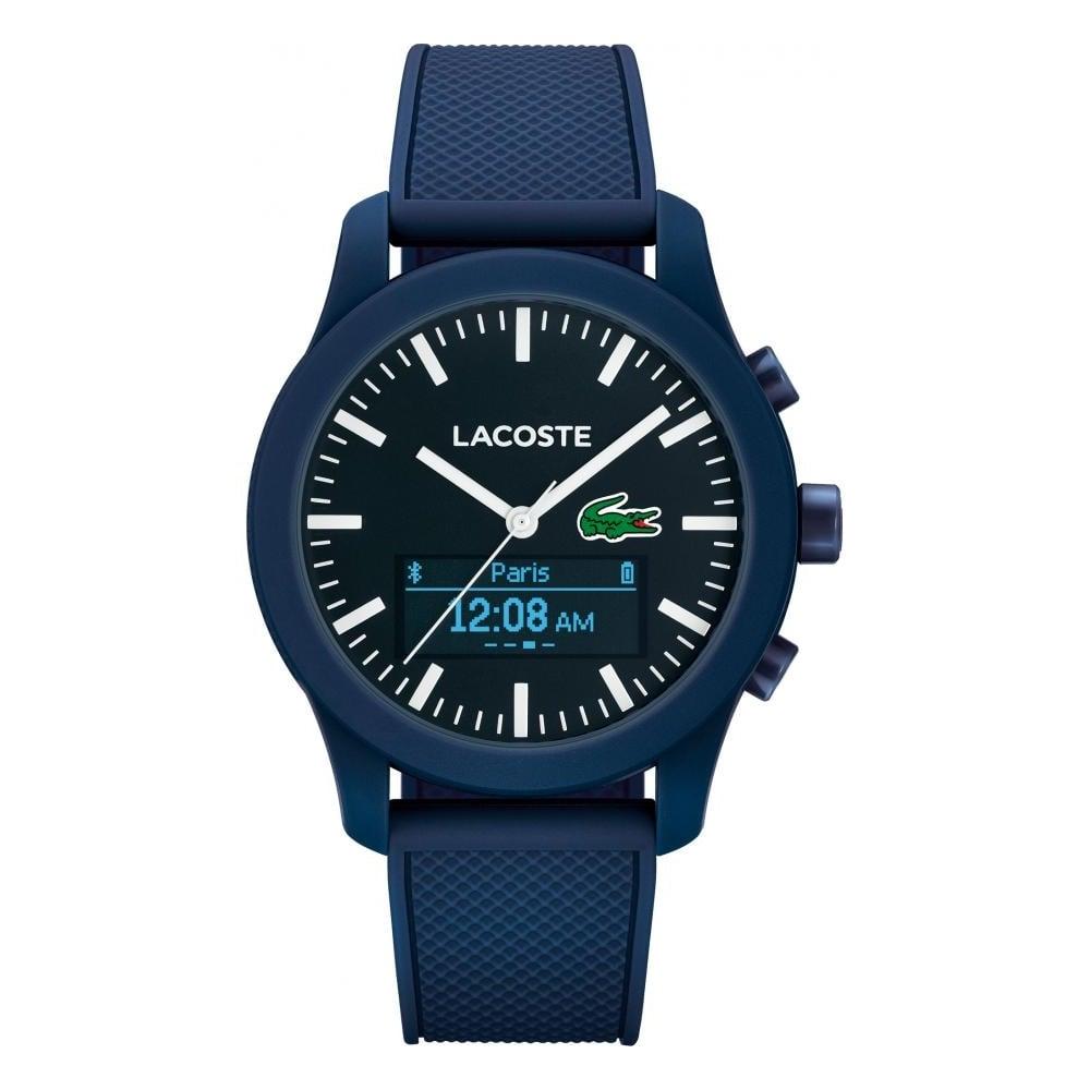 lacoste men s blue rubber 12 12 smart watch watches from francis men 039 s blue rubber 12 12 smart watch
