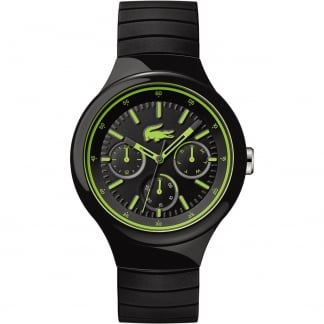 Men's Borneo Black Rubber Multifunction Watch