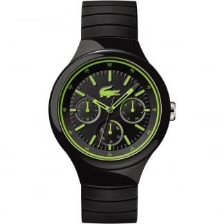 Men's Borneo Black Rubber Multifunction Watch 2010867
