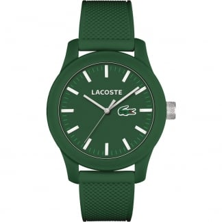 Men's Green 12.12 Silicone Strap Watch