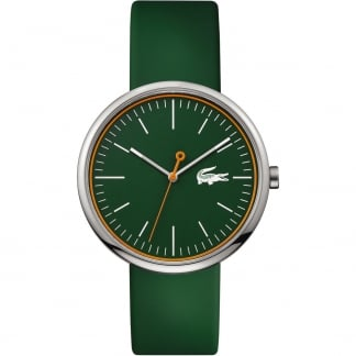 Men's Green Orbital Rubber Strap Watch
