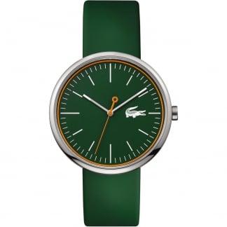 Men's Green Orbital Rubber Strap Watch 2010864