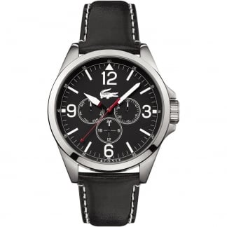 Men's Montreal Black Leather Chronograph Watch 2010804