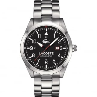 Men's Montreal Stainless Steel Black Dial Watch