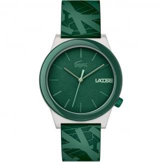 Men's Motion Green Abstract Strap Watch