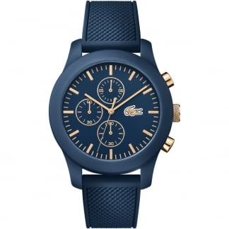 Men's Navy Blue 12.12 Chronograph Watch