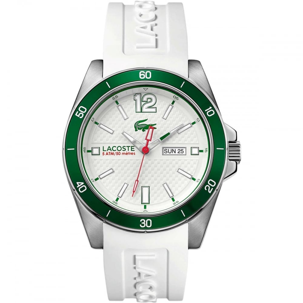 lacoste s seattle white silicone sports