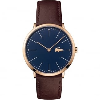 Men's Ultra Slim Navy & Rose Moon Watch