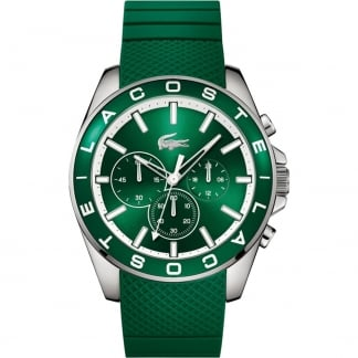 Men's Westport Green Rubber Chronograph Watch