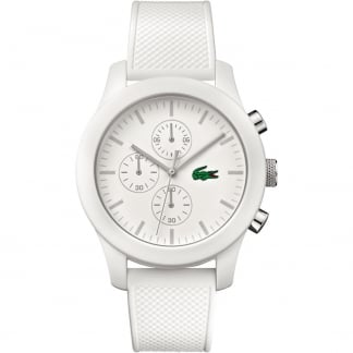 Men's White 12.12 Rubber Chronograph Watch