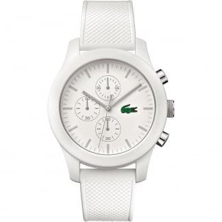 Men's White 12.12 Rubber Chronograph Watch 2010823