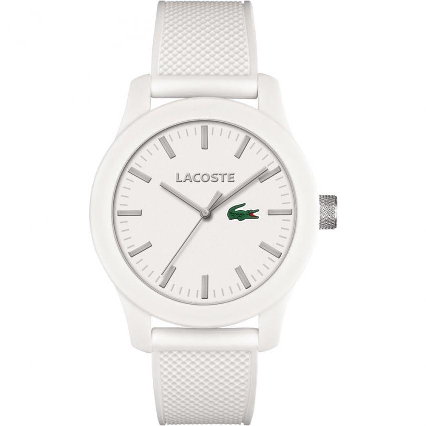 Lacoste Men's White 12.12 Silicone Strap Watch 2010762