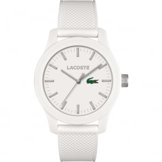 Men's White 12.12 Silicone Strap Watch
