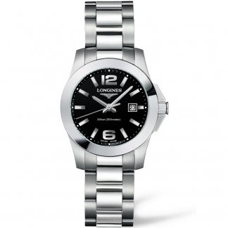 Ladies 300m Sport Conquest Swiss Made Watch L3.277.4.58.6