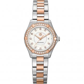 Ladies Beautiful Two Tone Diamond Set Aquaracer Watch WAP1452.BD0837