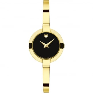 Ladies Bela Yellow Gold Plated Bangle Watch