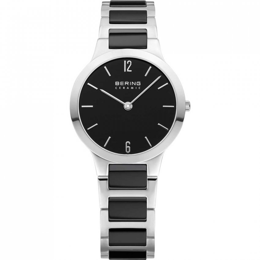 Bering Ladies Black Ceramic & Steel Bracelet Watch 30329-742