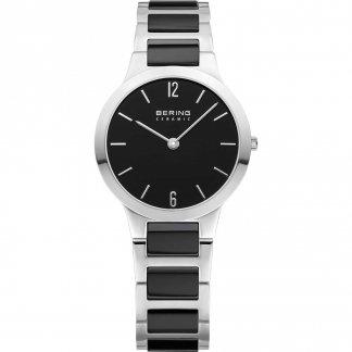 Ladies Black Ceramic & Steel Bracelet Watch