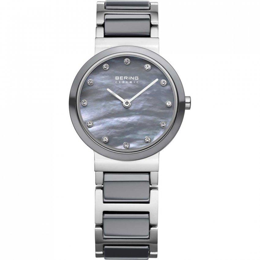 Bering Ladies Grey Ceramic & Steel MOP Dial Watch 10725-789