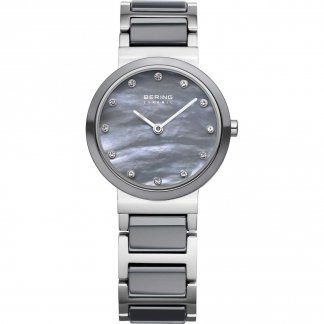 Ladies Grey Ceramic & Steel MOP Dial Watch 10725-789