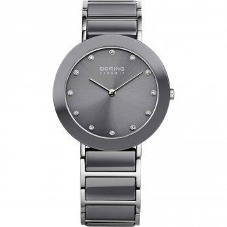 Ladies Swarovski Set Steel & Grey Ceramic Watch