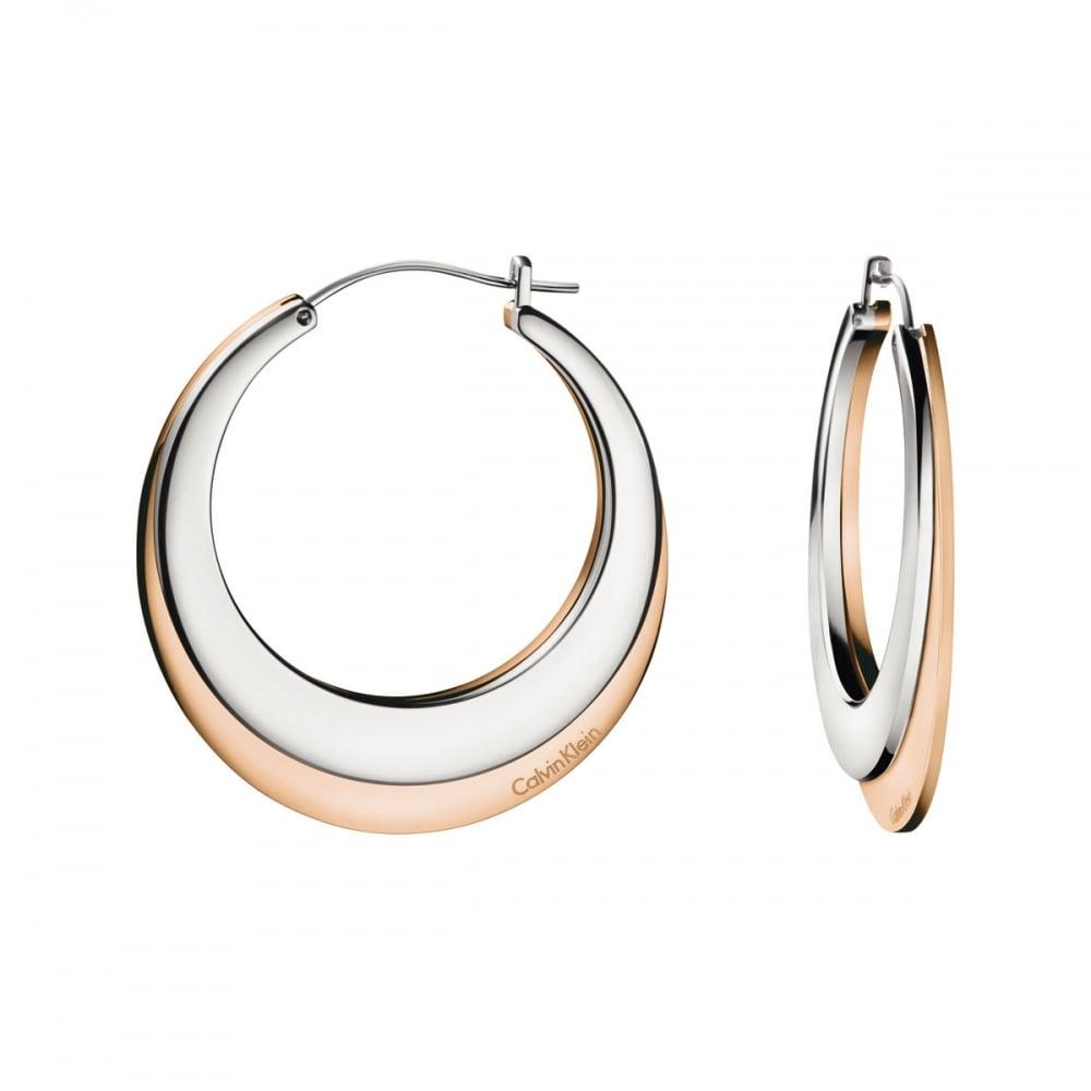 995981613 Calvin Klein Ladies Bi-Colour 'Breathe' Hoop Earrings Product Code:  KJ3DPE200100