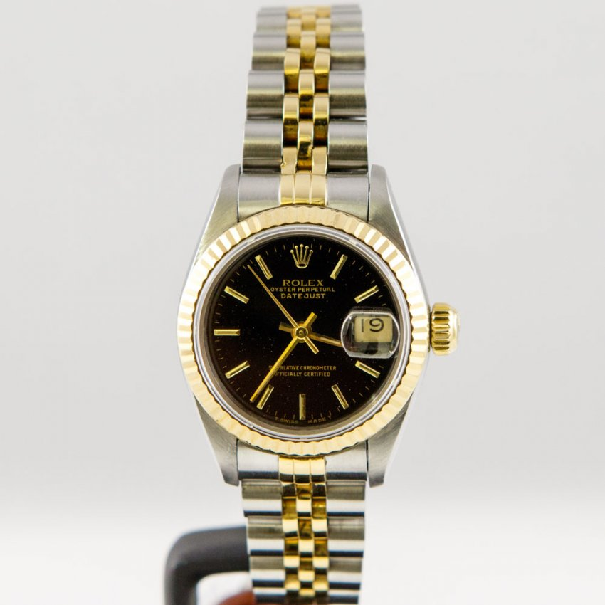 Pre-Owned Rolex Ladies Bi-Colour Oyster Perpetual DateJust ...