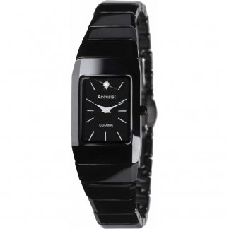 Ladies Black Ceramic Bracelet Watch LB1652