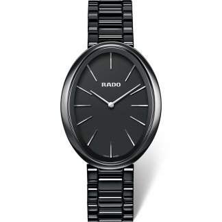 Ladies Black Esenza Ceramic Touch Watch R53093152
