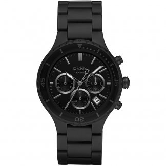 Men's Black Ceramix Chronograph Watch NY8188
