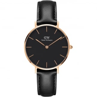 Ladies Black Strap Petite Sheffield 32mm Watch