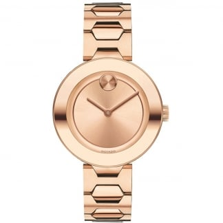 Ladies Bold 32mm Rose Gold Plated Watch