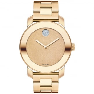 Ladies Bold Pavé Crystal Dot Rose Gold Watch