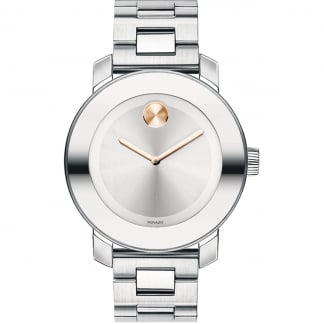 Ladies Bold Stainless Steel Watch