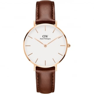 Ladies Brown Strap 32mm St Mawes Watch