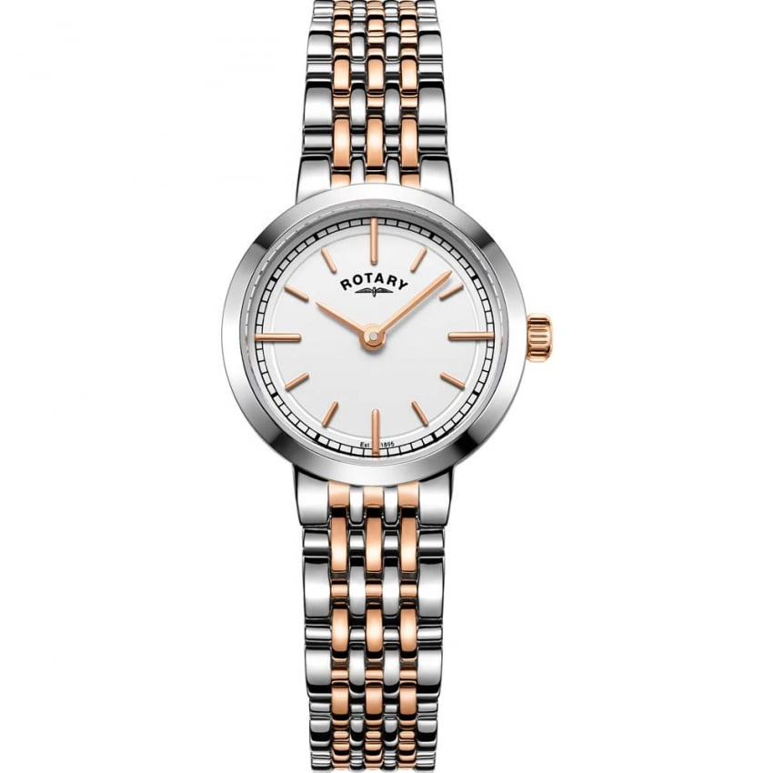Rotary Ladies Canterbury Steel & Rose Bracelet Watch LB05061/02