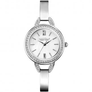 Ladies Silver Tone Bangle Watch 43L166