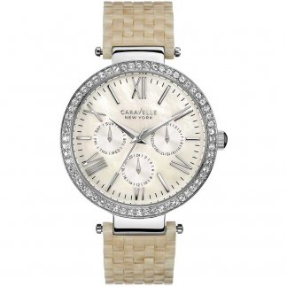 Ladies Crystal Set Multifunction Watch 43N102