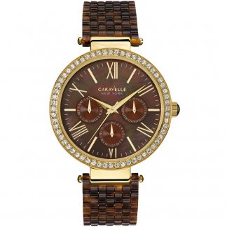 Ladies Tortoisehell Bracelet Multifunction Watch 44N102
